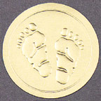 Baby Footprints Envelope Seals