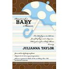 Baby Boy Umbrella Blank Invitation