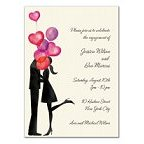 Balloon Love Blank Invitations