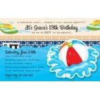 Beach Ball Splash Party Invitation