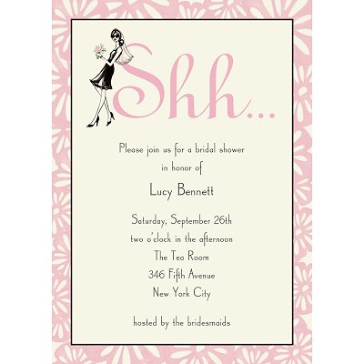 bridal shower on free printing template with blank