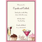 Cupcakes and Cocktails Invitations
