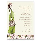 Green Momma Shower Invitations