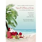 Palm Tree Santa Invitation