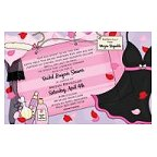 Lingerie Gift Bag Blank Invitation