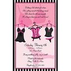 Naughty Nighties Lingerie Invitation