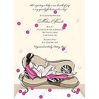 Posh Mommy Baby Shower Invitation