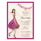 Pretty Prink Bridal Shower Blank Invitations