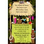 Tiki Hut Invitation