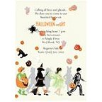 Halloween Trick or Treaters Invitations